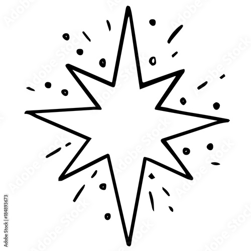 christmas star symbol of holy christmas and new year faith and christening cartoon