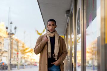 Fashionable black man on street