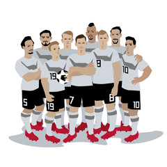Germany Soccer / Football team players