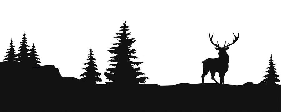 PAYSAGE AVEC RENNE silhouette