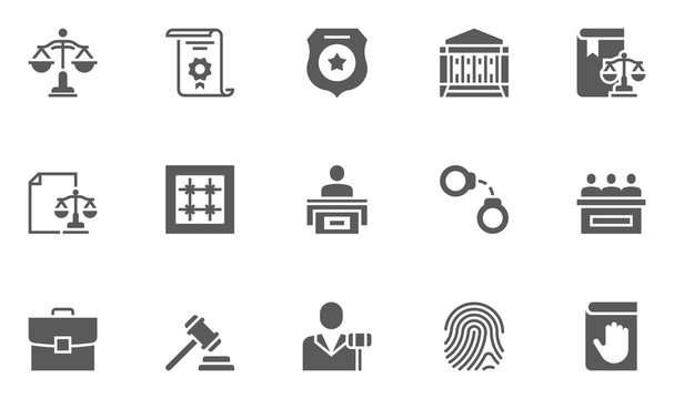 Lineo Editable Stroke - Crime, Law and Justice line iconsVector Icons - Adjust stroke weight - Expand to any size - Change to any colour