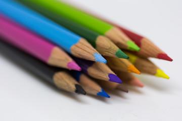 Coloured Pencils bundled together