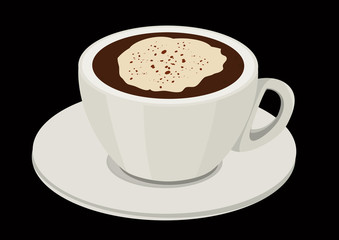 a cup of coffee with cream