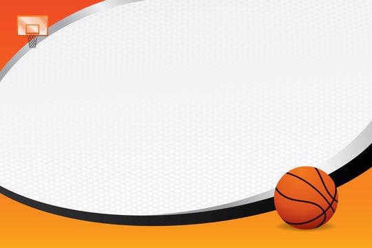 Basketball design background. Vector illustration
