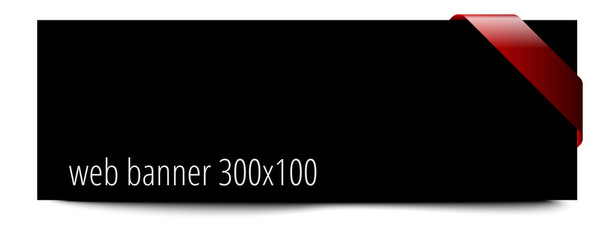Web banner 3x1 template with ribbon
