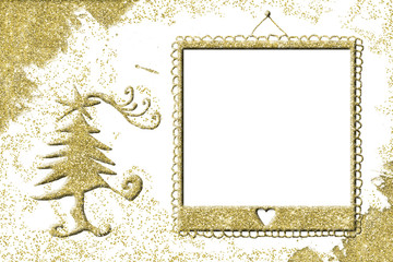Christmas picture frame greeting card