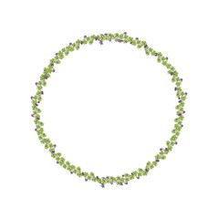 Green clover st. Patrick's Day Background. Circle frame