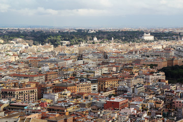 View from the cupola of Vatican Saint Peter's Cathedral