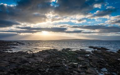 Coastline sunset dusk, Scotland and the Orkneys