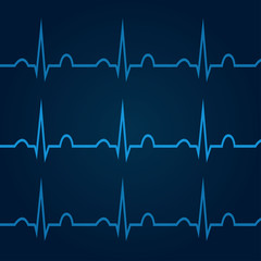 ECG on blue background 1