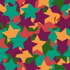 Abstract background with stars. Geometric seamless pattern for textiles, Wallpaper, packaging.