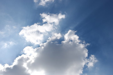 Blue sky and clouds, background