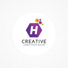 Creative hexagonal letter H logo, Letter H logo design vector with hexagon, vector logo template