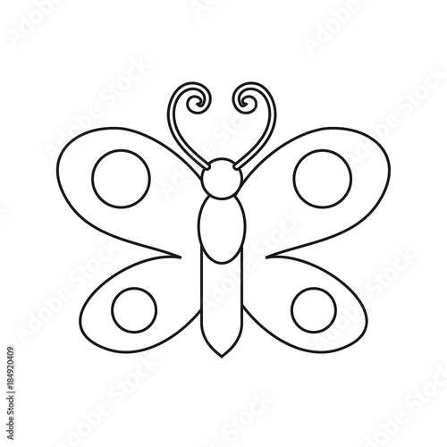 Butterfly drawing. Coloring pages for kids. Vector stock ...