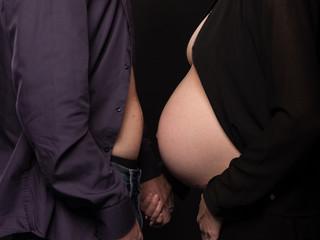 Schwangeres Elternpaar