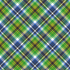 Green tartan seamless fabric texture