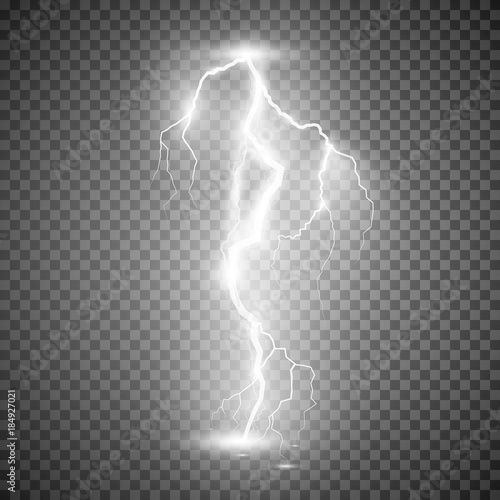 Storm lightning bolt  Vector illustration isolated on