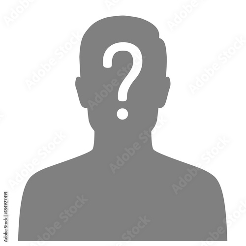 Vector Illustration Of A Missing Person, Graphic Wanted Poster, Lost  Anonymous Man  Lost Person Poster