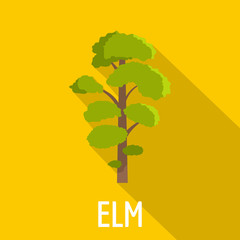 Elm tree icon. Flat illustration of elm tree vector icon for web
