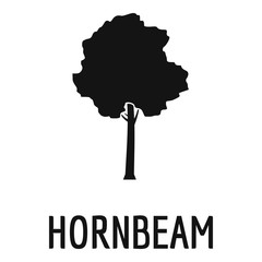 Hornbeam tree icon. Simple illustration of hornbeam tree vector icon for web