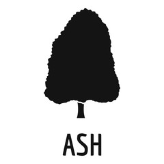Ash tree icon. Simple illustration of ash tree vector icon for web