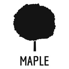 Maple tree icon. Simple illustration of maple tree vector icon for web