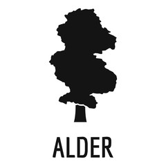 Alder tree icon. Simple illustration of alder tree vector icon for web
