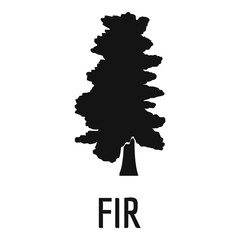 Fir tree icon. Simple illustration of fir tree vector icon for web