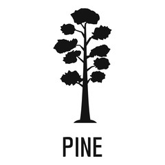 Pine tree icon. Simple illustration of pine tree vector icon for web