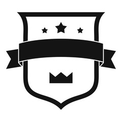 Badge crown icon. Simple illustration of badge crown vector icon for web