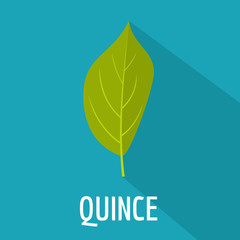 Quince leaf icon. Flat illustration of quince leaf vector icon for web