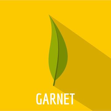 Garnet leaf icon. Flat illustration of garnet leaf vector icon for web