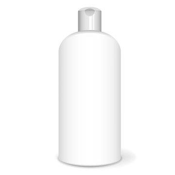 Shampoo bottle, white