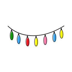 christmas lights vector illustration