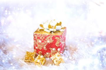 Christmas gift magic  background