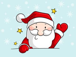 Winkender Comic Weihnachtsmann