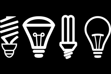 Light Bulb line icon vector, isolated on white background. Idea sign, solution, thinking concept. Lighting Electric lamp. Electricity, shine. Trendy Flat style for graphic design, Web site, UI. EPS.