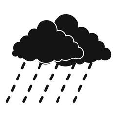 Cloud rain storm icon. Simple illustration of cloud rain storm vector icon for web