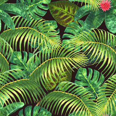 Summer exotic seamless pattern