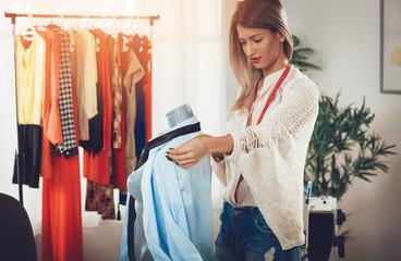 Fashion Designer With Mannequin