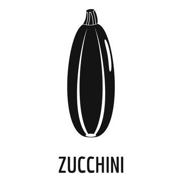 Zucchini icon. Simple illustration of zucchini vector icon for web