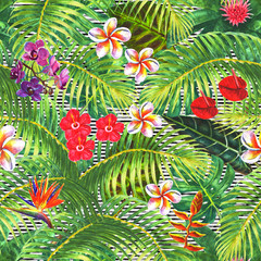 Tropical exotic seamless pattern