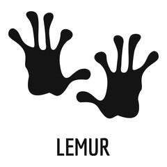 Lemur step icon. Simple illustration of lemur step vector icon for web