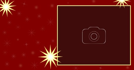 Christmas / New Year illustration card with space for your text and photo.