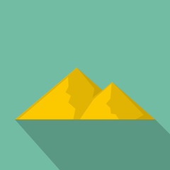 Mountain for extremal icon. Flat illustration of mountain for extremal vector icon for web