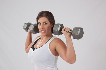 Lovely Female weight lifter