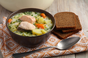 Finnish fish soup kalakeitto