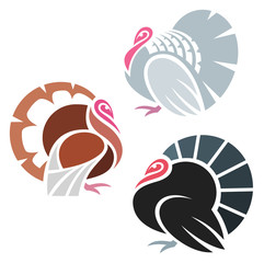 Stylized Turkey Birds
