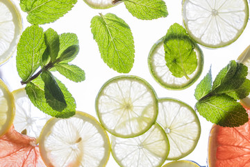 background of citrus and peppermint