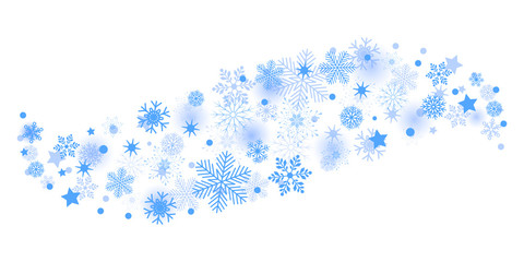 Blue wave snowflake background - stock vector